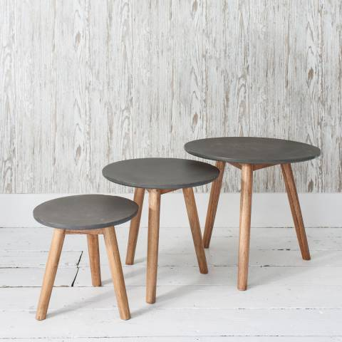 Gallery Grey Bergen Nest of Tables