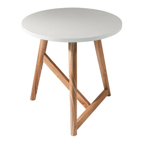Gallery White Hamar Round Side Table