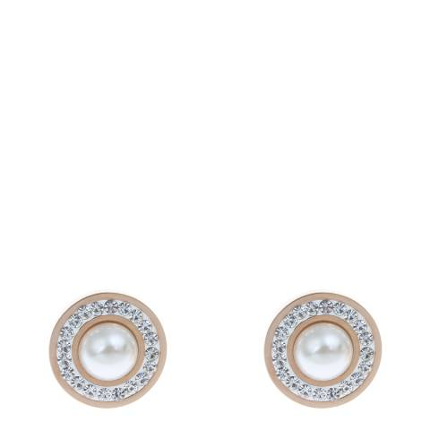 White label by Liv Oliver Rose Gold Pearl Stud Earrings