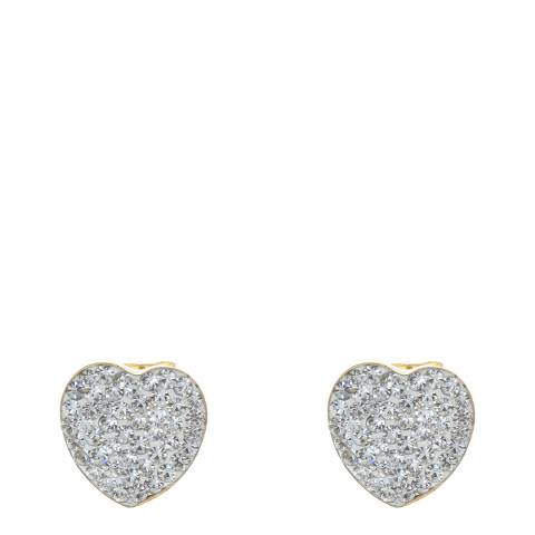 Black Label by Liv Oliver Gold Crystal Heart Earrings