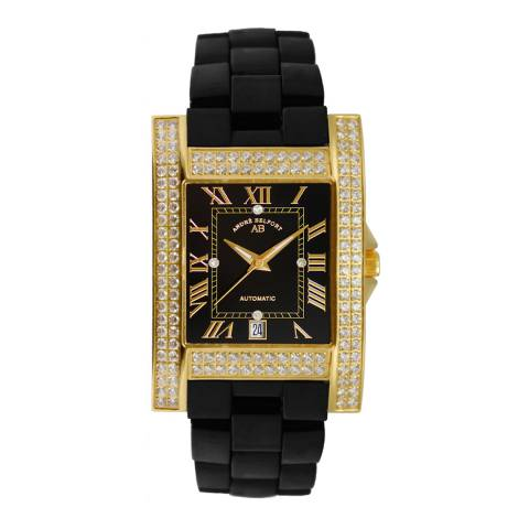 Andre Belfort Women's Black/Gold Diamond Hera Watch