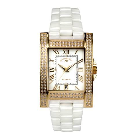 Andre Belfort Women's White/Gold Hera Watch
