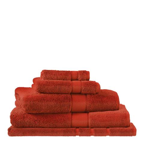 Sheridan Egyptian Luxury Bath Sheet, Burnt Red