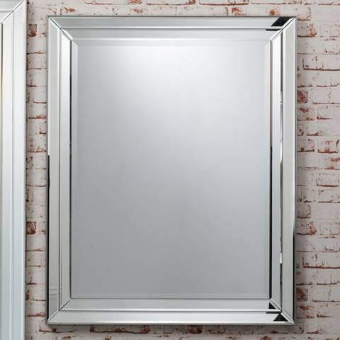 Gallery Silver Clear Roswell Rectangular Mirror 100x80cm