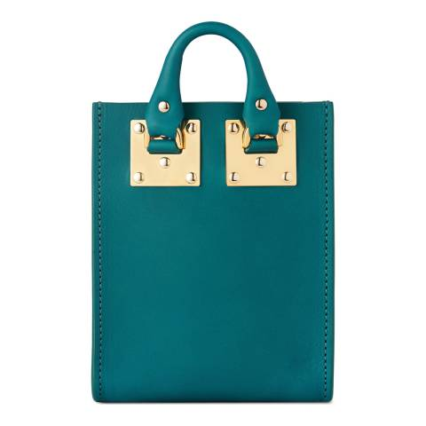 Sophie Hulme Jewel Green Micro Albion Leather Tote
