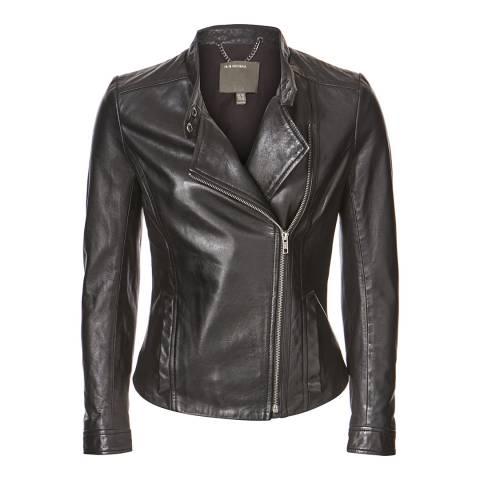 Muubaa Black Delaney Leather Biker Jacket
