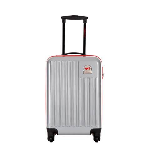 Cabine Size Silver 4 Wheel Cabin Suitcase 48cm