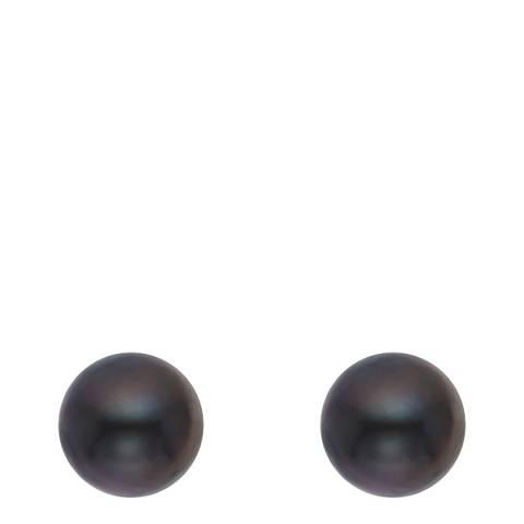 Just Pearl Black Tahitian Pearl Stud Earrings