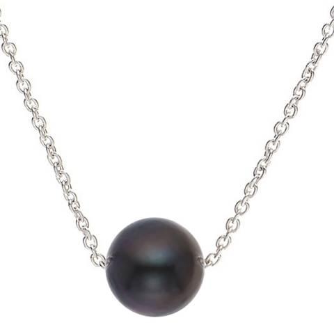 Perlinea Pearls Black Tahitian Pearl Beaded Pendant Necklace