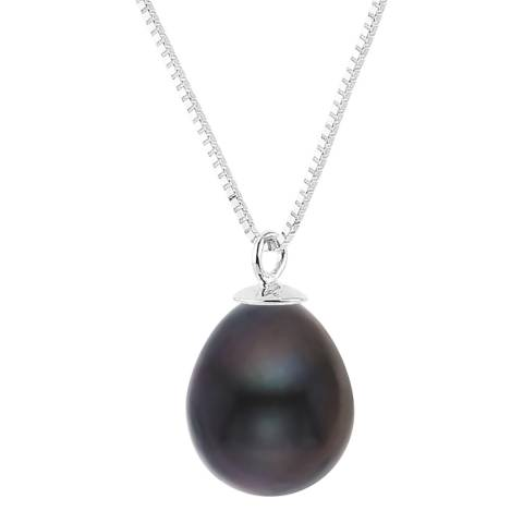 Just Pearl Black Tahitian Pearl Pendant Necklace