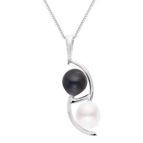 Perlinea Pearls Black/White Freshwater Tahitian Pearl Pendant Necklace