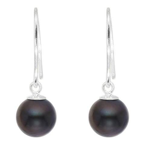 Mitzuko Black Tahitian Pearl Drop Earrings