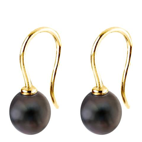 Just Pearl Black Tahitian Pearl Drop Earrings