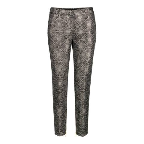DAY Birger Et Mikkelsen Silver Geometric Print Wool Blend Trousers