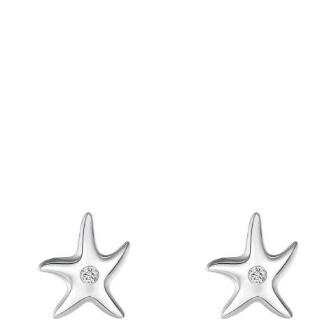 Tess Diamonds Silver Starfish Diamond Stud Earrings