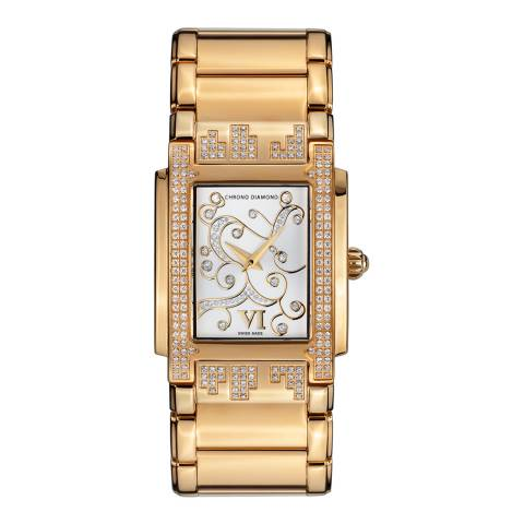 Chrono Diamond Women's Gold Stainless Steel Lenya Watch