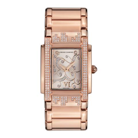 Chrono Diamond Women's Rose Gold Stainless Steel Lenya Watch