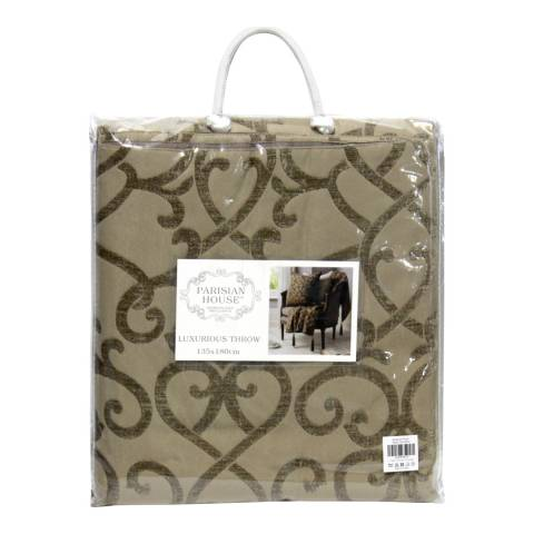 Parisian House Taupe Boulevard Throw 135 x 180cm