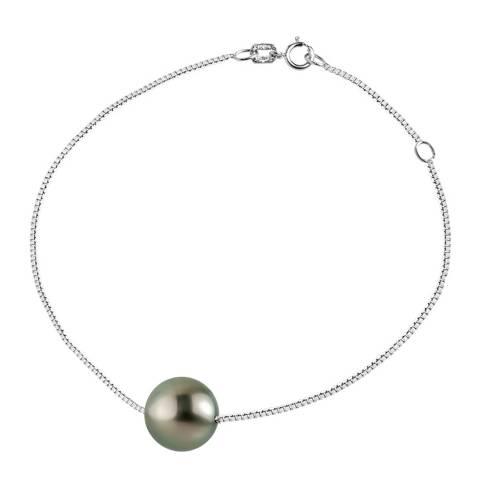 Ateliers Saint Germain Silver Black Tahitian Style Pearl Bracelet