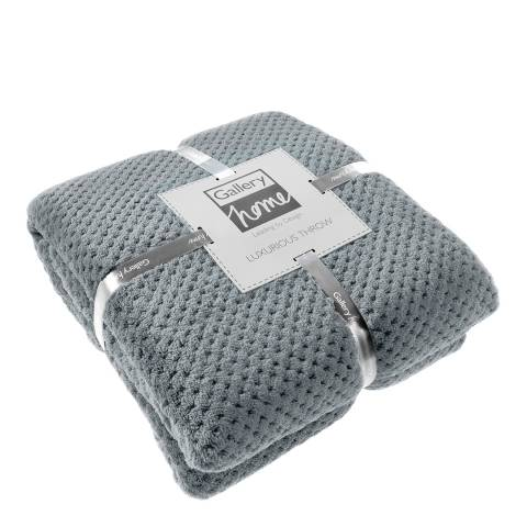Gallery Grey Waffle Fleece Throw 150 x 200cm