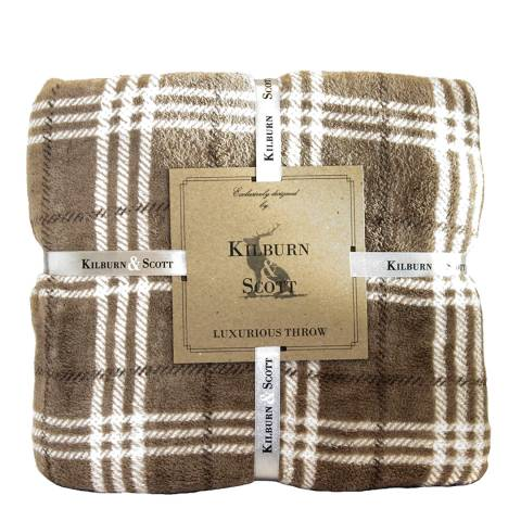 Gallery Natural Checkers Throw 140x180cm