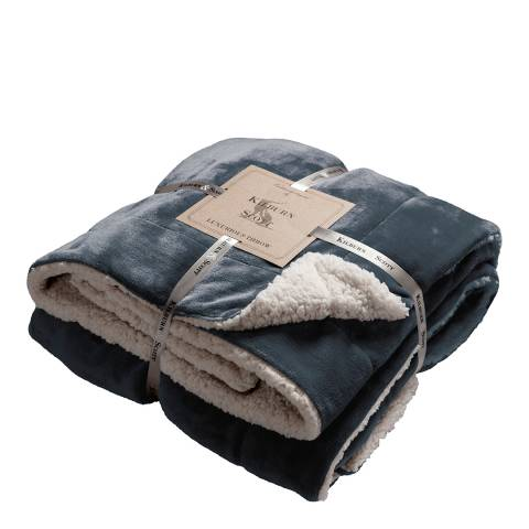 Gallery Grey Sherpa Throw 152x177cm