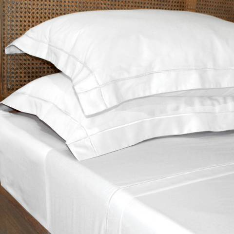 Gallery Chelsea Flat Sheet White Superking
