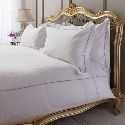 Parisian House White/Heather Chelsea Egyptian Kingsize Cotton Quilt Cover Set