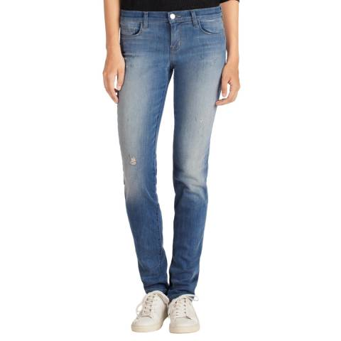 J Brand Mesmerize Blue Jude Low Rise Slim Straight Jeans