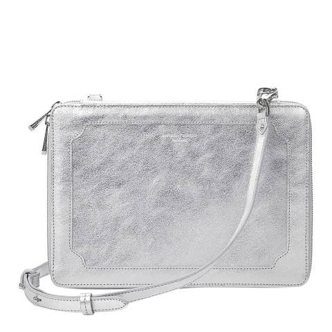 Aspinal of London Silver Leather Marylebone iPad Case