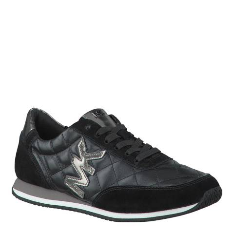 Michael Kors Black Leather Metallic Trainers