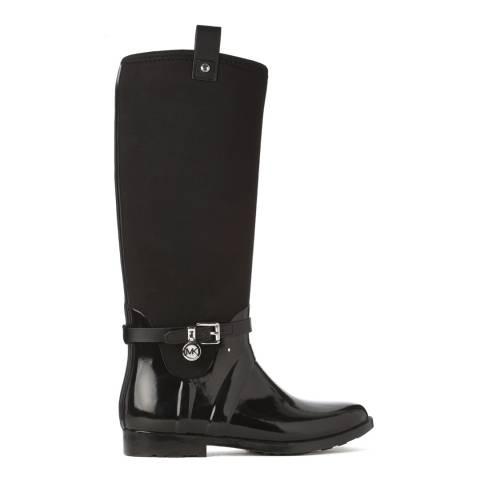 Michael Kors Black Long Wellington Boots