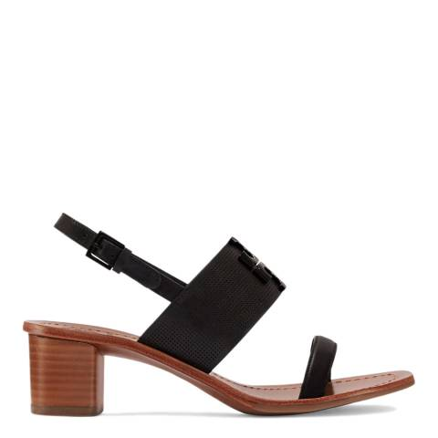 Tory Burch Black Lowell Perforated Leather Sandal