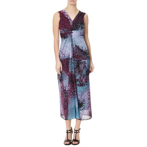 James Lakeland Violet Print Knot Maxi Dress