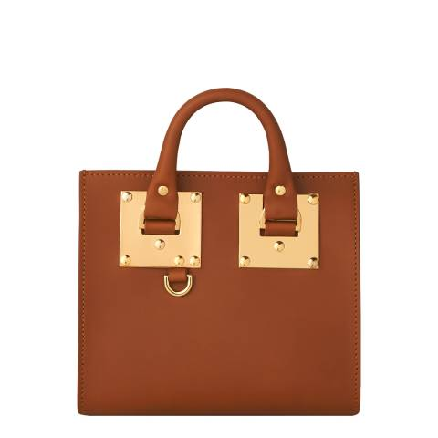 Sophie Hulme Tan Leather Albion Box Tote