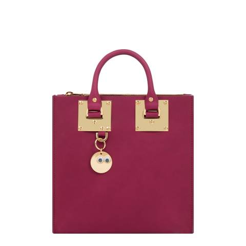 Sophie Hulme Plum Leather Albion Square Tote