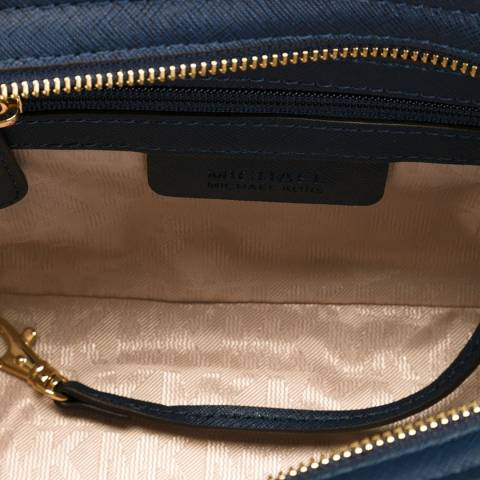 15729af0372a Navy Leather Studded Selma Messenger - BrandAlley