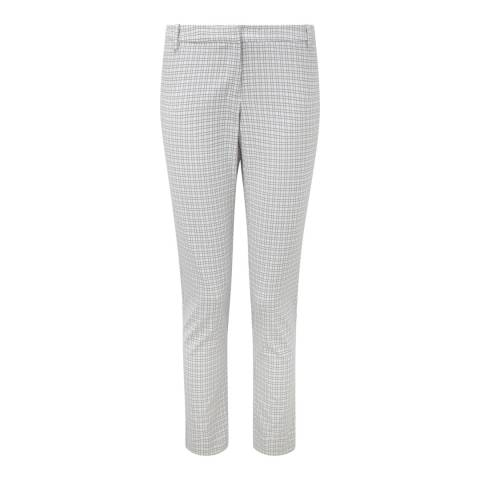 Pure Collection Grey/Ivory Check Capri Trousers