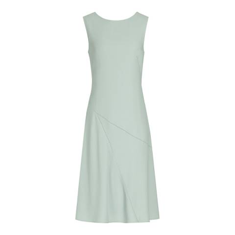 Reiss Green Ice Scoop Back Ritz Dress
