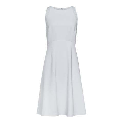 Reiss Blue Pebble Trim Detail Blair Dress