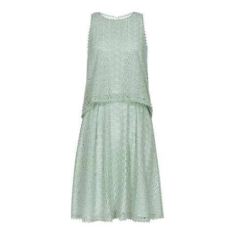 Reiss Sea Oyster Layered Lace Remi Dress