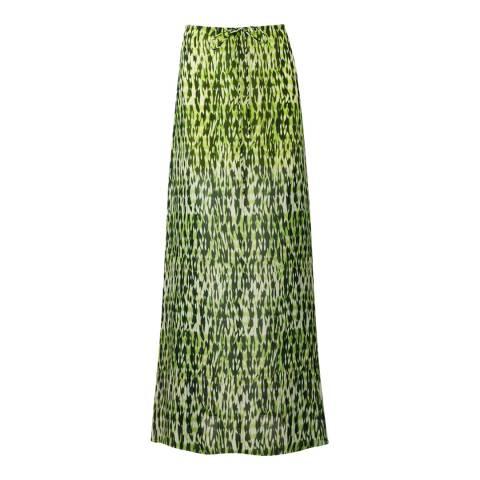 Amanda Wakeley Acid Ford Printed Ripple Silk Skirt