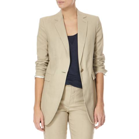 Joseph Beige Laurent Single Breast Blazer