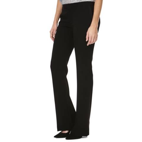 Joseph Black Flare Crepe Trousers