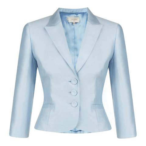 Hobbs London Crystal Blue Crystal Silk/Wool Blend Jacket