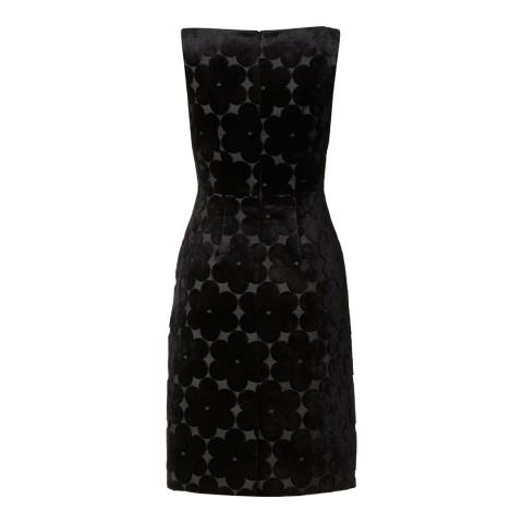 Orla Kiely Black Flower Power Jacquard V Neck Dress