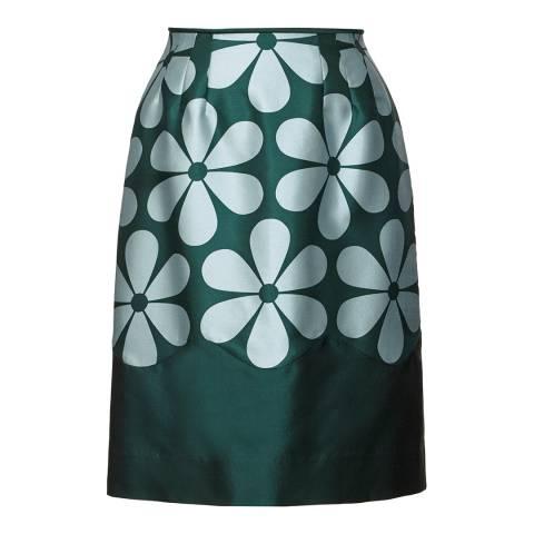 Orla Kiely Green Giant Snowdrop Skirt