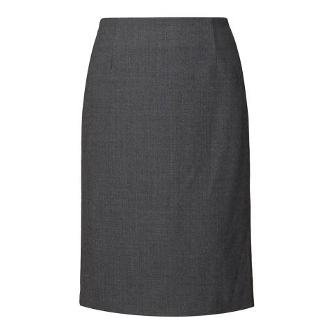 Orla Kiely Grey Crepe Coating Skirt
