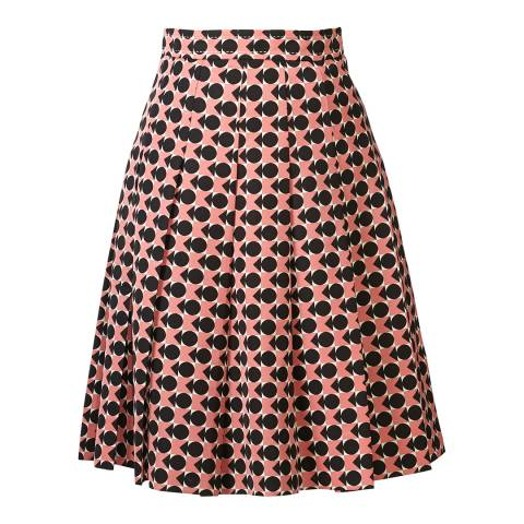 Orla Kiely Black and Pink Spot Square Triangle Ottoman Skirt
