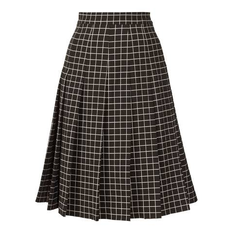 Orla Kiely Black and White Window Pane Jacquard Skirt